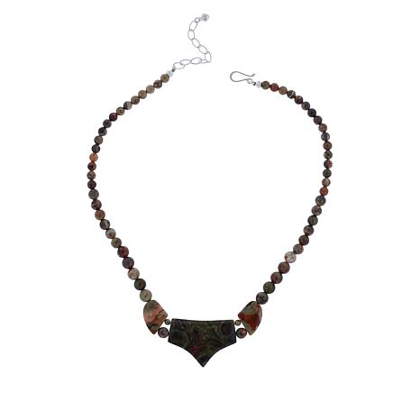 Jay King Sterling Silver Multi-Colored Pico Stone Necklace