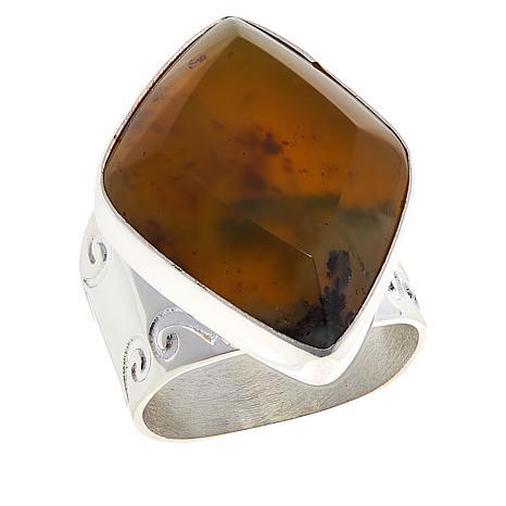Jay King Sterling Silver Namibian Green Goddess Opal Ring