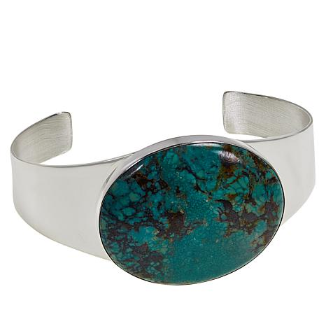 Jay King Sterling Silver New Red Skin Turquoise Cuff Bracelet