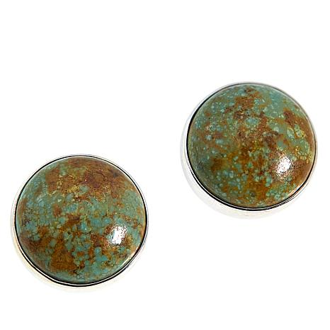 Jay King Sterling Silver New Red Skin Turquoise Stud Earrings