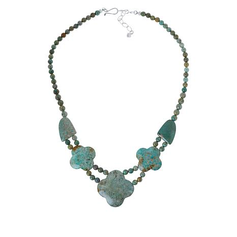 Jay King Sterling Silver No. 7 Yellow Turquoise Necklace