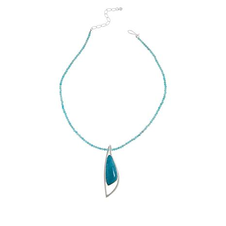 Jay King Sterling Silver Peruvian Amazonite Pendant/Necklace
