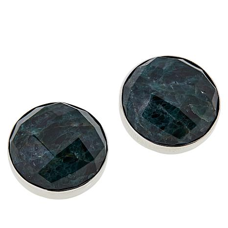 95125a1e5 Jay King Sterling Silver Round Teal Apatite Stud Earrings - 8970938 | HSN