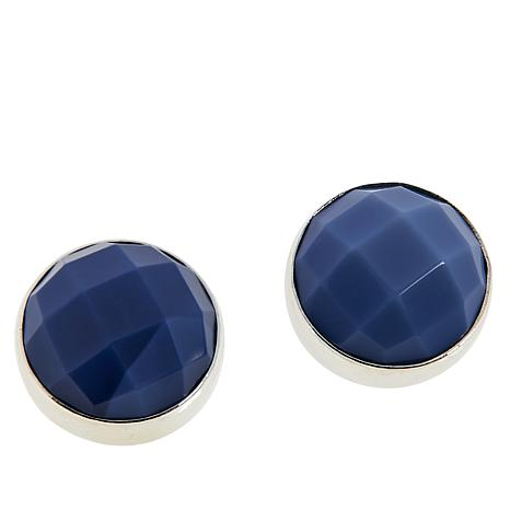 Jay King Sterling Silver Royal Blue Opal 10mm Stud Earrings