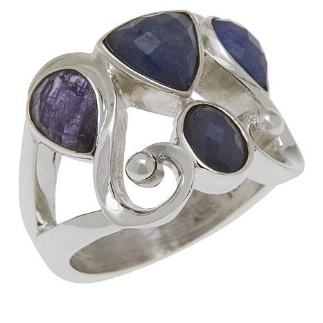 Jay King Sterling Silver Tanzanite Multi-Shaped Stone Ring