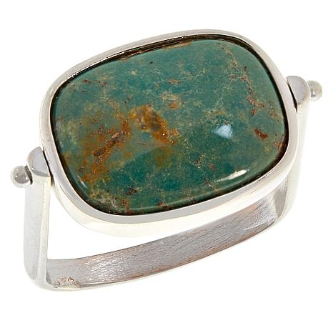 Jay King Sterling Silver Turquoise and Shell Doublet Reversible Ring