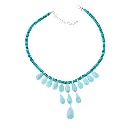 "Jay King Turquoise and Aragonite 18"" Necklace"