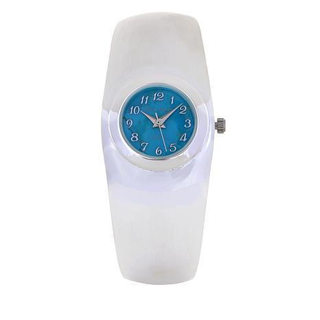 Jay King Turquoise Sterling Silver Cuff Bracelet Watch