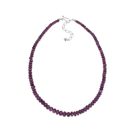 "Jay King Twilight Mauve Sapphire Bead 18-1/2"" Necklace"