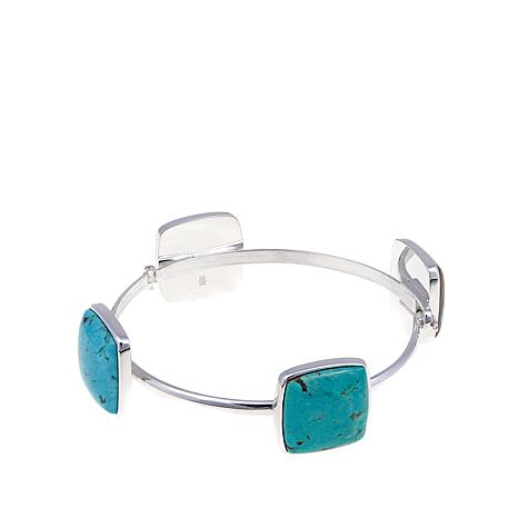 Jay King Tyrone Turquoise Square Station Cuff Bracelet