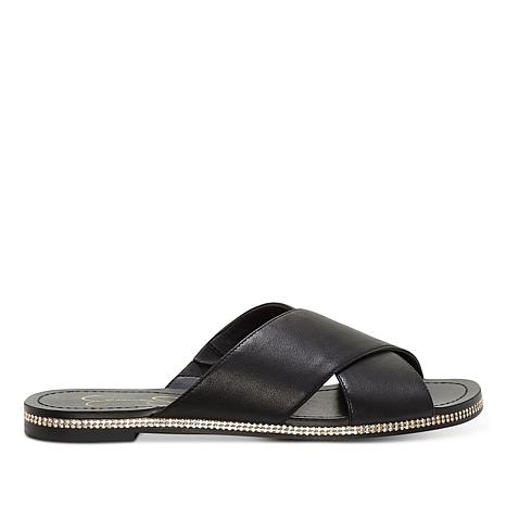 Jessica Simpson Brinella Leather Crossband Slide Sandal