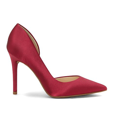 Jessica Simpson Lucina Pointed-Toe Satin Pump