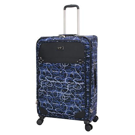 Jessica Simpson Signature Jacquard 29-inch Softside Spinner in Blue