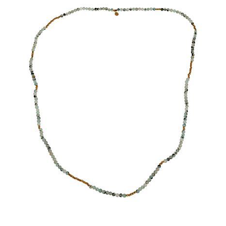 """JK NY 32"""" Beaded Stretch Necklace/Wrap Bracelet"""