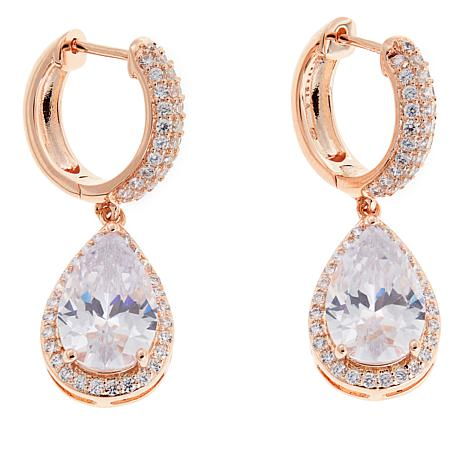 the taylor pear is elizabeth com earrings round qvc product drop as