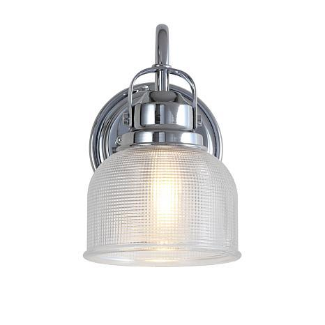 "JONATHAN Y Chrome Virginia 5.75"" 1-light Metal Glass LED Vanity Light"