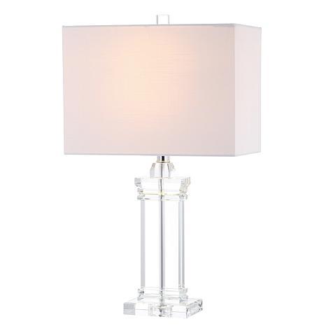 "JONATHAN Y Clear Ophelia 26.5"" Crystal LED Table Lamp"