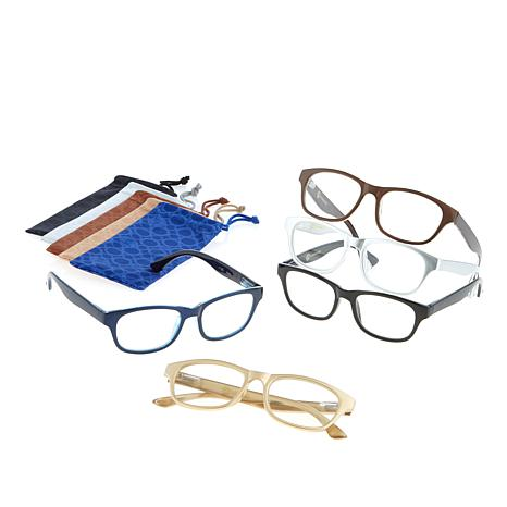 JOY 10-piece SHADES Readers in Classic Design Frames - 8336415 | HSN