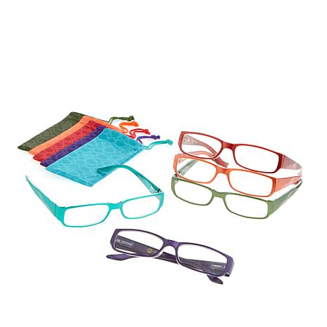 JOY 10-piece SHADES Readers in Traditional Design Frames - 8336439 | HSN