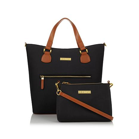 HSN) JOY & IMAN Alexandria Leather Tote and Crossbody