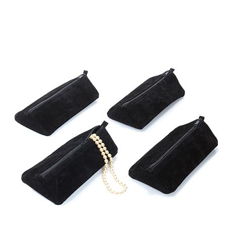 JOY Better Beauty Case Set of 4 Black Velvety Pouches