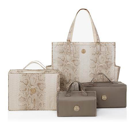 JOY Deluxe 4-piece Better Beauty Case Set with RFID Big Shopper Tote