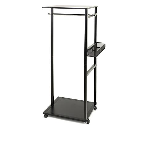 JOY Easy Setup Ultimate Closet Rolling Rack with Basket - 8550143 | HSN