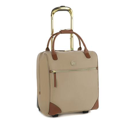JOY Lightweight Nylon & Leather Wheeled Traveler Bag with RFID