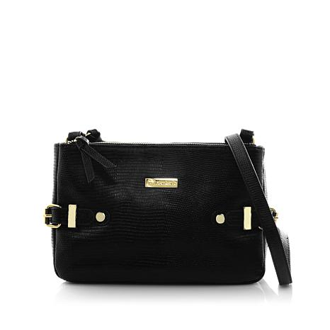JOY Luxe Leather Lizard-Embossed City Collection Crossbody with RFID