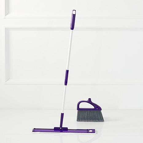 JOY Miracle Mop Swivel Wet/Dry 360º Flat Mop and Sweep Broom Set