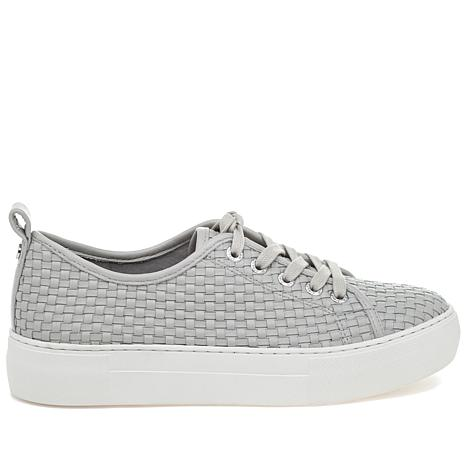 J/Slides NYC Artsy Woven Leather Slip-On Sneaker