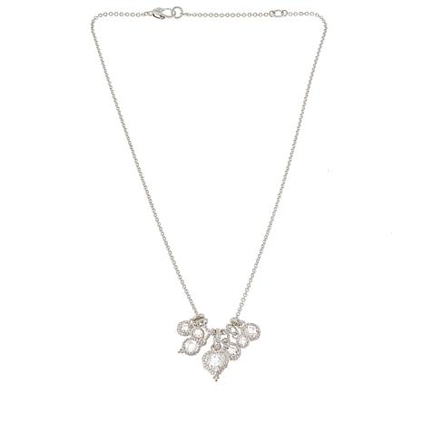 Judith Ripka 9.50ctw Diamonique® Sterling Silver Charm Necklace