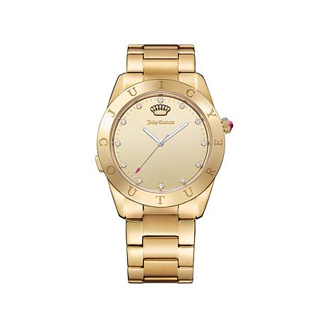 Juicy Couture Bluetooth Goldtone LED Marker Watch