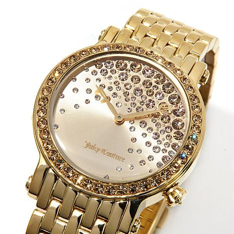 Juicy Couture La Luxe Crystal Dial and Crystal Bezel Goldtone ...