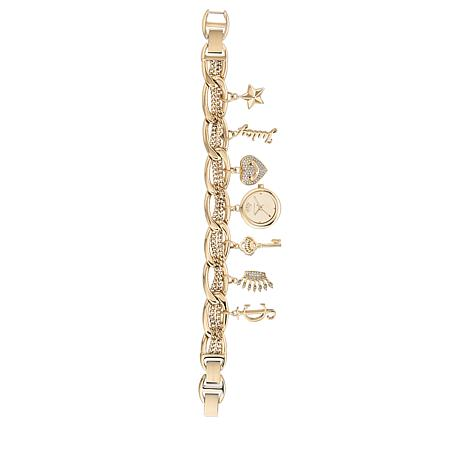 Juicy Couture Goldtone Charm Bracelet Watch