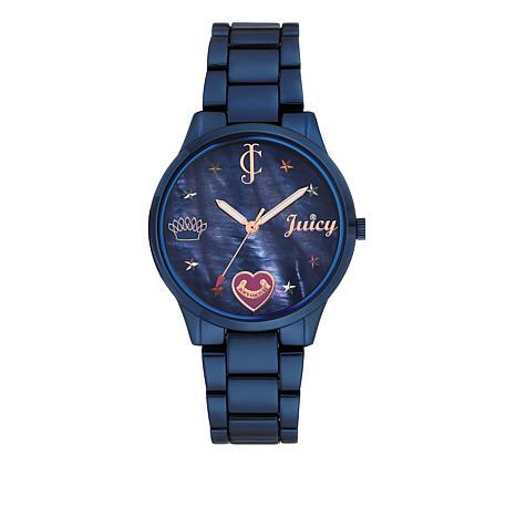 Juicy Couture Metallic Blue Women's Blue Dial Bracelet Watch