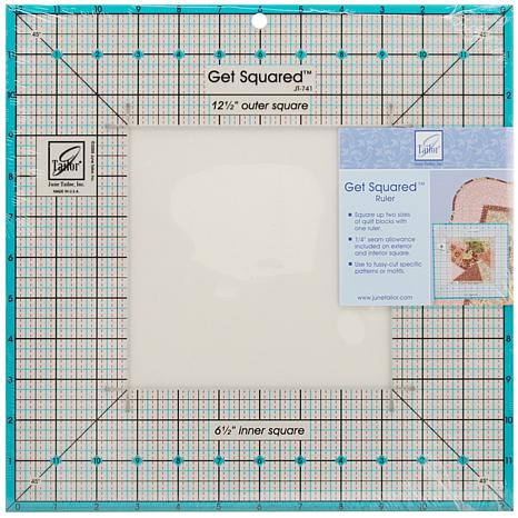 "June Tailor Get Squared Ruler with 12-1/2"" Outer"