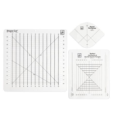 """June Tailor, Inc. 3pk """"Must Have"""" Quilting Rulers with Video Tutorials"""