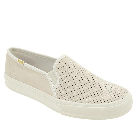 Keds Double Decker Perforated Suede Slip-On Sneaker