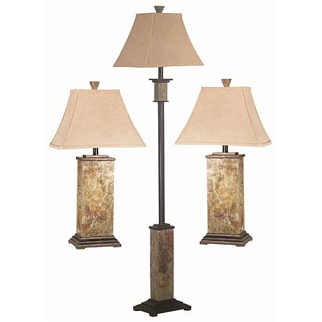 Kenroy Home Bennington 2 Table Lamps And 1 Floor Lamp