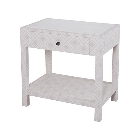 Kent Fabric-Wrapped Bedside Table