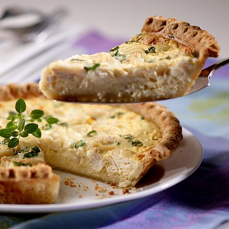 "Kent Island 2 Jumbo Lump Crab 9"" Quiches - 16 Servings"