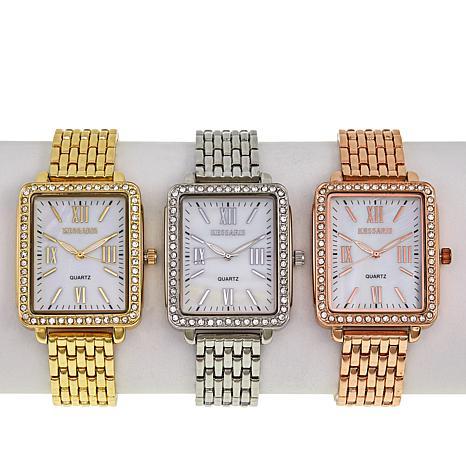 Kessaris 3-piece Metal Bracelet Watch Set
