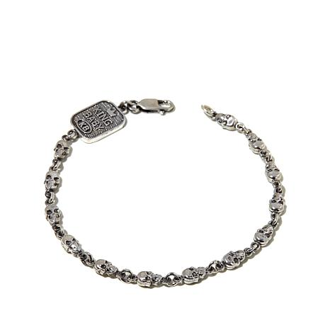 King Baby Jewelry Sterling Silver Skull Bracelet