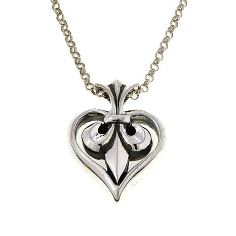 King baby sterling silver fleur de lis pendant with 22 chain king baby sterling silver fleur de lis pendant with 22 chain aloadofball