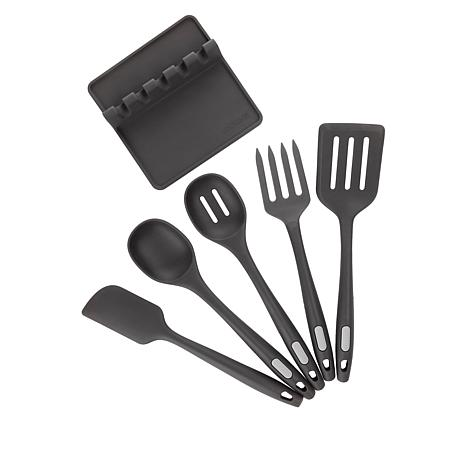 exclusive! Kitchen HQ 6-piece Silicone Kitchen Utensil Set
