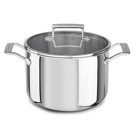 KitchenAid® Tri-Ply Stainless Steel 8-Quart Stockpot with Lid