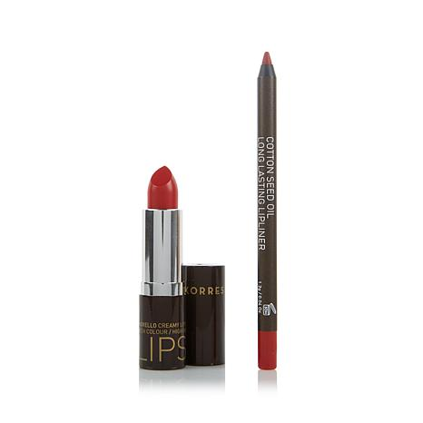 Korres Morello Lipstick & Liner Duo - Red