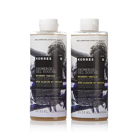 Korres Mulberry Vanilla Shower Gel Duo