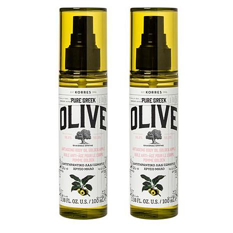 Korres Olive and Golden Apple Anti-Aging Body Oil 2-pack